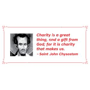 Charity is a great thing St John Chrys Thumbnail