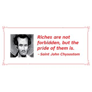 Riches are not forbidden St John Chrys Thumbnail